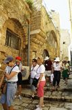 Foreign tourists in Jaffa in Israel royalty free stock photography