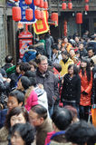 A foreigner in jinli old street Royalty Free Stock Photography