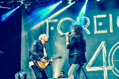 Foreigner live in Hellfest 2016 Stock Image