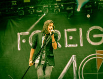Foreigner live in Hellfest 2016 Stock Photos