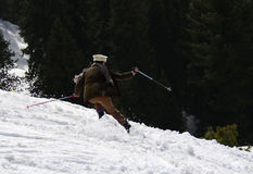 Foreigner skiing - Swat Snow Festival Pakistan! Stock Images
