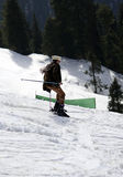 Foreigner skiing - Swat Snow Festival Pakistan! Royalty Free Stock Photography