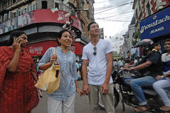 Foreigners in Kolkata Royalty Free Stock Photo
