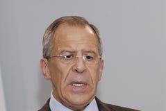forein lavrov部长sergey 免版税库存照片