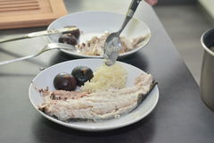 Forel met fig. stock foto's