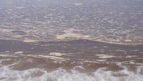 Forell för maninnehavregnbåge ut ur vatten lager videofilmer