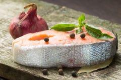 Forellbiff med kryddor Royaltyfri Foto
