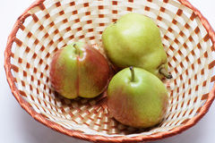 Forelle Pears in Basket Royalty Free Stock Photo