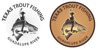 Forelle Wrangler Fish Rider Lizenzfreies Stockbild