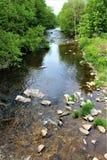 Forellen-Fluss-Strom, Franklin County, Malone, New York, Vereinigte Staaten stockbild