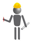 Foreman. An illustration of a foreman with plan vector illustration