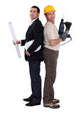 A foreman and an architect. Stock Images