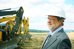 Foreman on a building site Stock Image
