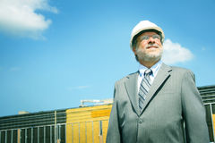 Foreman at building site Stock Photography