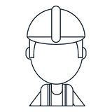 Foreman construction helmet thin line Royalty Free Stock Photography