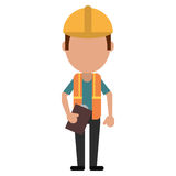 Foreman construction helmet vest and clipboard Royalty Free Stock Images