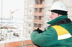Foreman at construction site Stock Photography