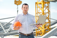 A foreman at the construction Stock Photography