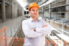 A foreman at the construction Stock Image