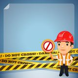 Foreman With Danger Tapes Stock Photos