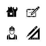 Foreman equipment. Simple Related Vector Icons Stock Photo