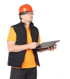 Foreman in helmet and vest. Royalty Free Stock Photos