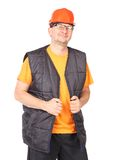 Foreman in helmet and vest. Stock Photography
