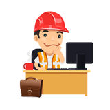 Foreman at his Desk Royalty Free Stock Image