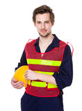 Foreman hold with hardhat Royalty Free Stock Photos