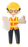 Foreman holding lots of files Royalty Free Stock Image