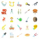 Foreman icons set, cartoon style Stock Photo