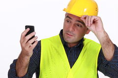Foreman with phone Stock Image
