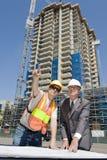 foreman przedsiębiorcy budowlanego Zdjęcia Stock
