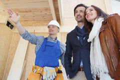 Foreman shows new house Stock Photography