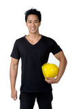Foreman smile isolated. Young foreman smile in isolated Royalty Free Stock Photography