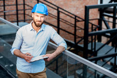 Foreman on the structure stock photo