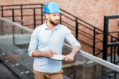 Foreman on the structure stock image