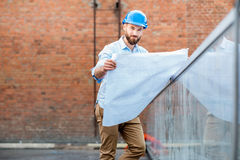 Foreman on the structure royalty free stock photography