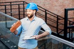 Foreman on the structure stock images