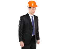 A foreman in a suit looking Royalty Free Stock Photo