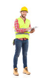 Foreman taking a notes Royalty Free Stock Photos