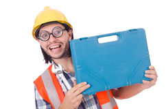 Foreman with tool kit Royalty Free Stock Photography