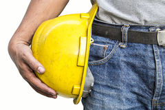 Foreman on white background Stock Photos