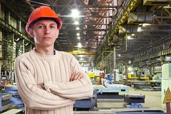 Foreman in the workshop Stock Photo