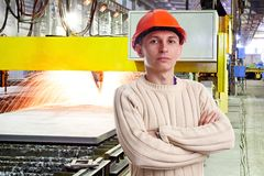 Foreman in the workshop Stock Photography