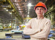 Foreman in the workshop Royalty Free Stock Image