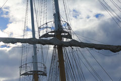 Foremast of sailing ship Stock Photography