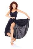 Foremny dysponowany piękny kobieta taniec fotografia stock