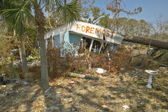 Foremost Insurance sign in front of destroyed house from Hurricane Ivan in Pensacola Florida Stock Images