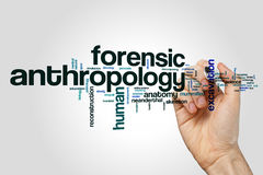 Forensic anthropology word cloud Stock Photos